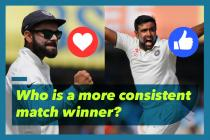 Ravichandran Ashwin is more reliable than Virat Kohli. Polls prove it
