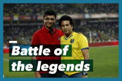The rivalry between Sachin and Sourav intensifies as their teams face-off in the finals of ISL