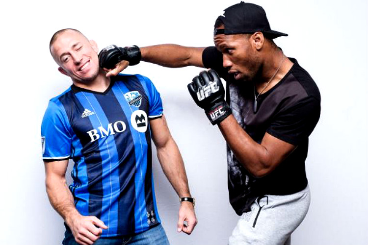 Didier Drogba, Georges St-Pierre, football, MLS, UFC, Montreal Impact