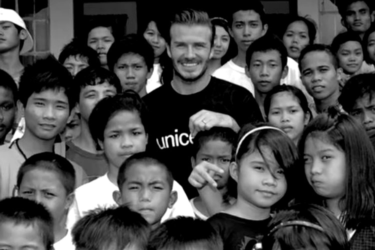 David Beckham, UNICEF, football, advert, child abuse, violence, bullying, ad