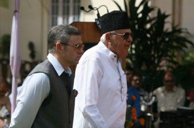 Former Jammu and Kashmir CM Omar Abdullah and Farooq Abdullah