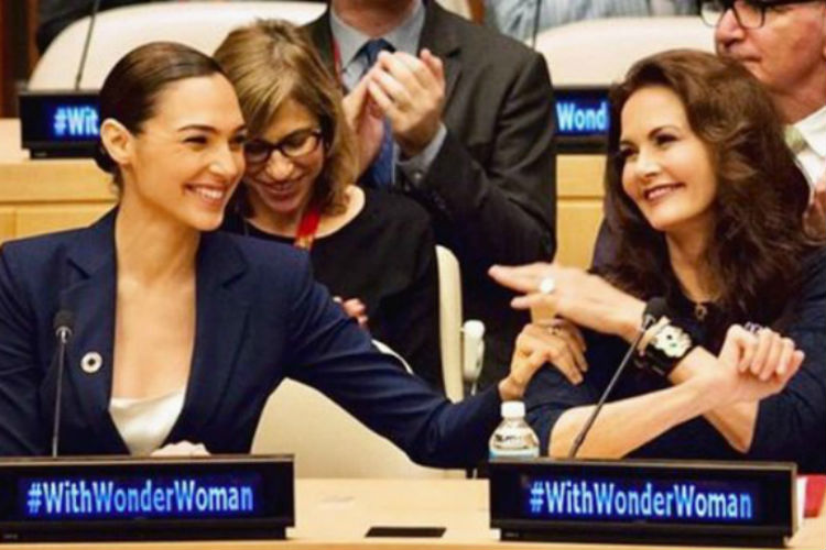 Gal Gadot Lynda Carter Un Wonder Woman | Instagram Image for InUth.com