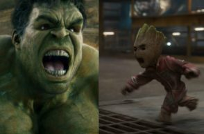 Guardians of The Galaxy Hulk Groot Fight | Image For InUth.com