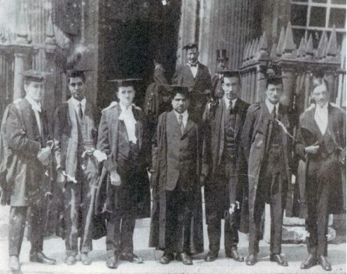 Srinivas Ramanujam at a convocation in Trinity College, Cambridge