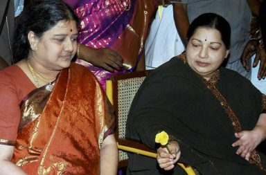 J Jayalalithaa with her close aide Sasikala (File photo: PTI)