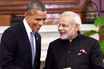 Prime Minister Modi shares a light moment with outgoing US President Barack Obama.