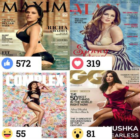 Bollywood Actress Magazine Cover Poll