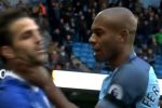 football, Premier League, Manchester City, Chelsea, fight, brawl, Sergio Aguero, David Luiz, Fernandinho, Cesc Fabregas