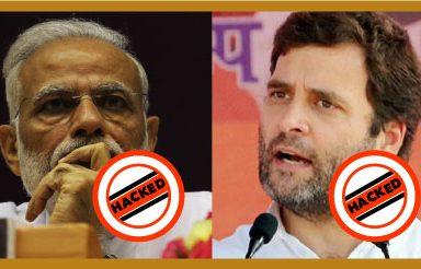 hacking, Narendra Modi, Rahul Gandhi