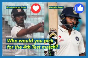 Parthiv Patel, Wriddhiman Saha, Indian cricket team