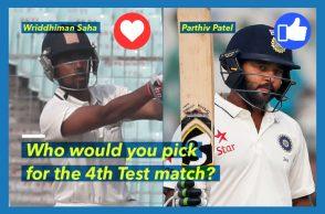 Parthiv Patel, Wriddhiman Saha, Indian cricket team