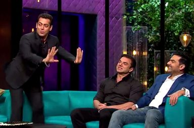 Salman Khan in Koffee With Karan Twitter video screen grab