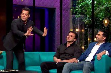 Salman Khan in Koffee With Karan Twitter video screen grab