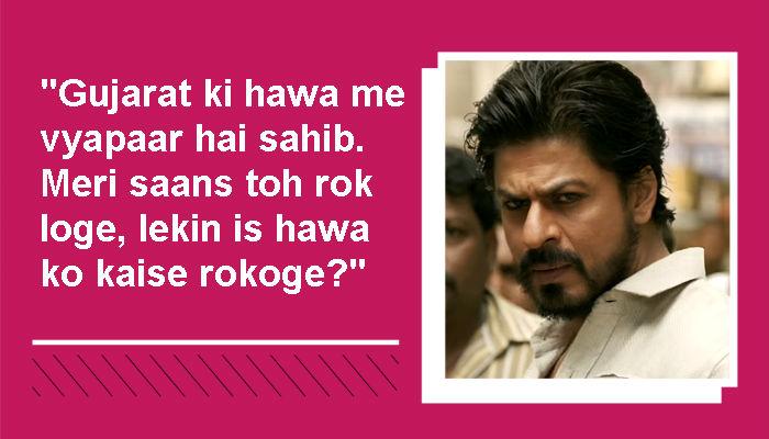 Shah Rukh Khan Raees dialogues