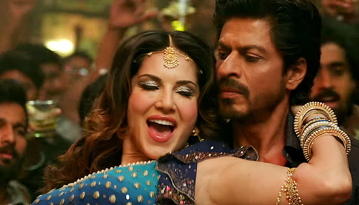 Sunny Leone Shah Rukh Khan YouTube screen grab