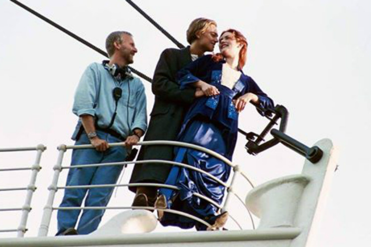 Titanic's behind the scene image