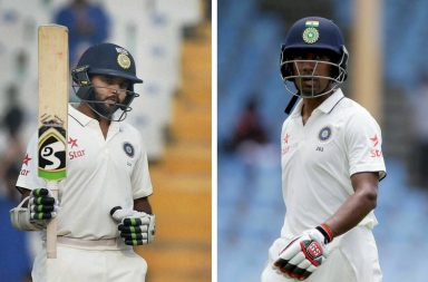 Parthiv Patel (left) and Wriddhiman Saha.