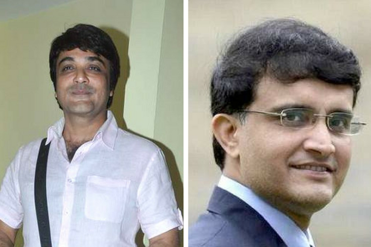 Prosenjit Chatterjee and Sourav Ganguly. (Photos: Wikimedia, PTI)
