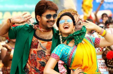 Vijay and Rakulpreet in a still from Bairavaa