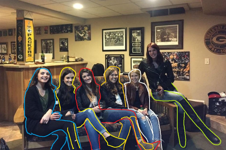 Women Couch Legs Optical Illusion Viral