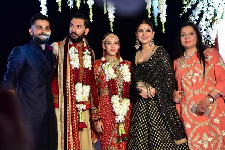 Yuvraj Singh Hazel Keech Wedding Virat Kohli Anushka Sharma | IANS Photo For InUth.com