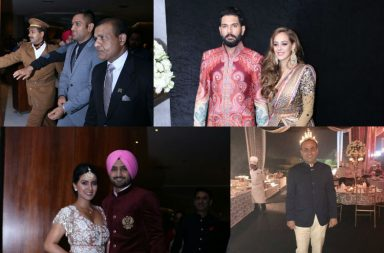 Yuvraj Singh, Hazel Keech, MS Dhoni, Harbhajan Singh