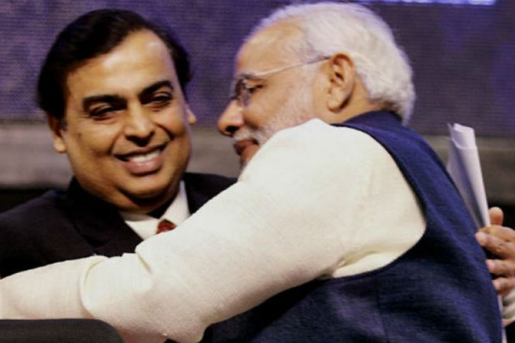 Ambani pitches for 'Keep in India'