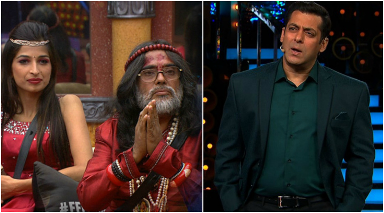 Swami Om and Salman Khan in Bigg Boss 10 Colors TV photo for InUth.com