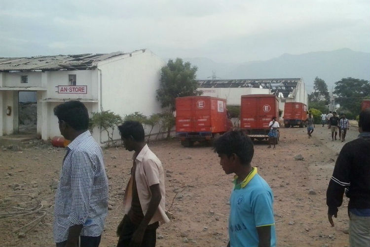 Tamil Nadu: 5 dead, several injured in a huge fireworks factory explosion in Trichy