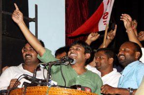 Former president of JNU Kanhaiya Kumar