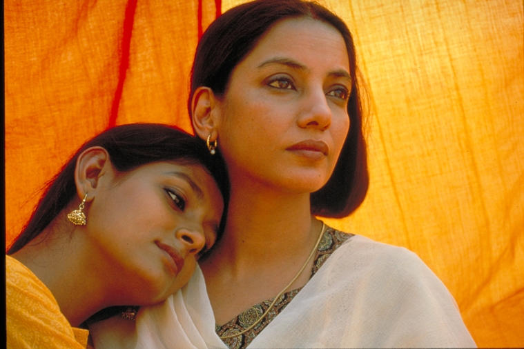 Shabana Azmi and Nandita Das in a still from Deepa Mehta's Fire, 1996. The movie draws it's primary inspiration from Chughtai's Lihaaf.