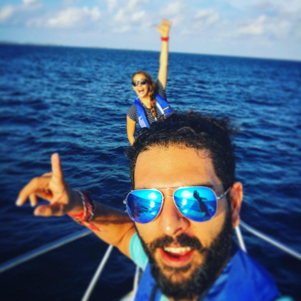 Yuvraj Singh and Hazel Keech honeymoon