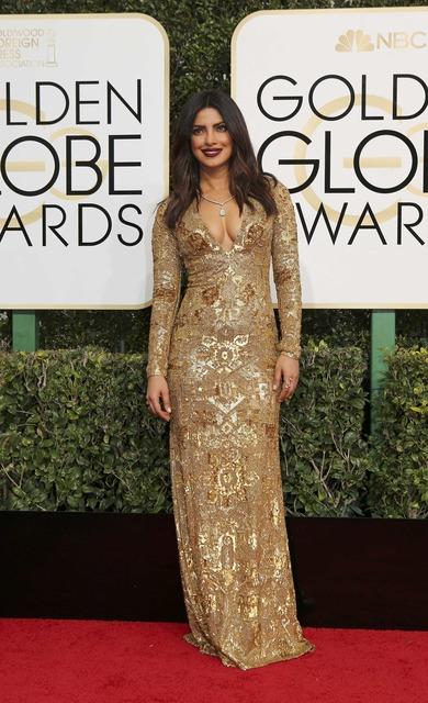 Actress Priyanka Chopra arrives at the 74th Annual Golden Globe Awards in Beverly Hills, California, U.S., January 8, 2017. REUTERS/Mike Blake