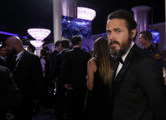 Actor Casey Affleck at a pre-show cocktail party (Reuters/Mario Anzuoni)