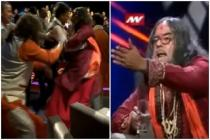 Swami Om gets slapped on a TV show | WATCH now!