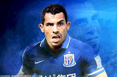 football, Chinese Super League, footballer, Carlos Tevez, Argentina, Boca Juniors, China, Premier League, Juventus, West Ham United, Manchester United, Manchester City