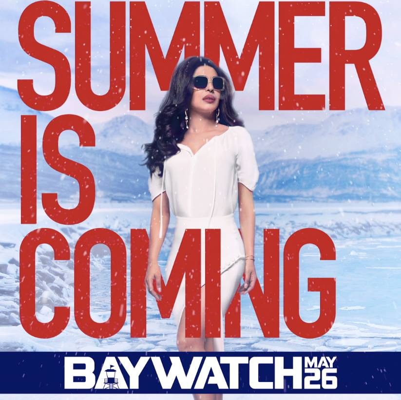 Baywatch Film Poster Priyanka Chopra | Facebook Image for InUth.com