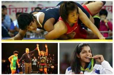 Babita Phogat, Geeta Phogat, Sakshi Malik