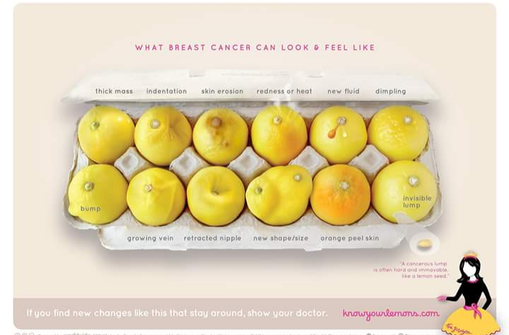 This Photo Of Lemons Can Help Women Spot Signs Of Breast Cancer