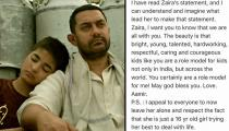 Hanikaarak Bapu to the rescue: Aamir Khan tweets in support of Dangal daughter Zaira Wasim