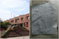 """Outraged at JNU's """"Don't vomit"""" notice? Worry not. It'sFake!"""