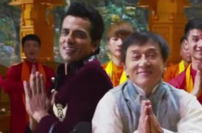 Jackie Chan and Sonu Sood (Courtesy: YouTube/ZeeMusicCompany)