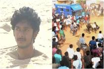 Jallikattu protest: Man buries himself in sand, thousands gather at Marina beach