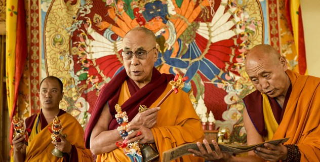 HH Dalai Lama inaugurating 'Guiding the Disciples Ceremony'