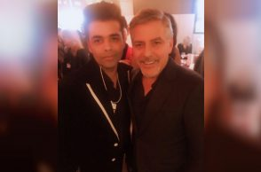 Karan Johar and George Clooney (Courtesy: Instagram/Karan Johar)