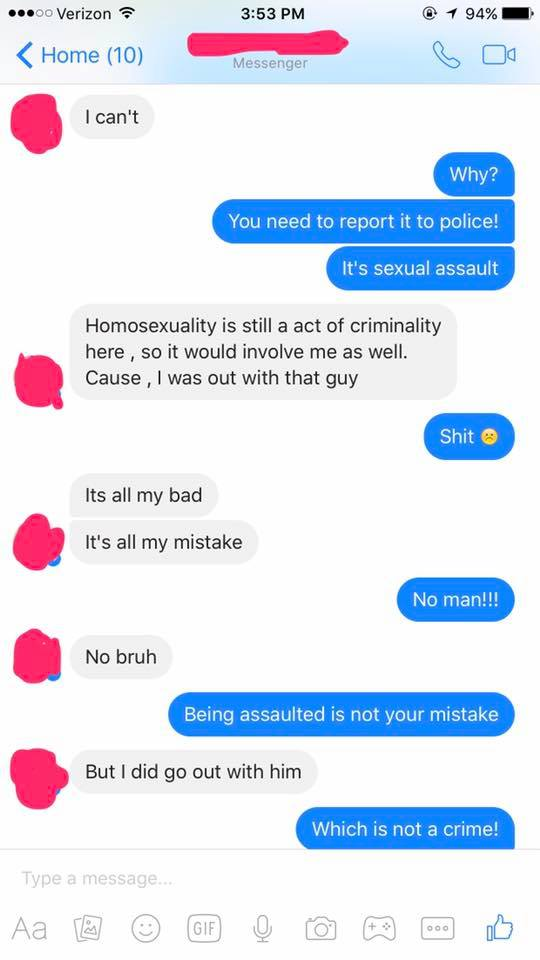 Conversation screenshot/facebook