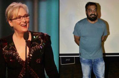 Meryl Streep and Anurag Kashyap (Courtesy: Twitter/@kathygriffiin)