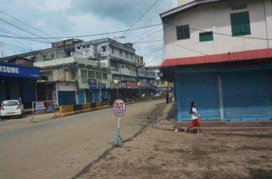 A file photo of a street wearing a deserted look in Nagaland (Photo: PTI)