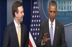 Watch: After Joe Biden, Obama bids Press Secretary Josh Earnest a memorablefarewell