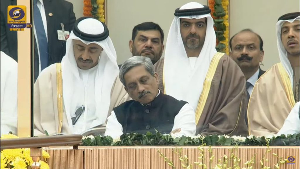 We're all guilty of having dozed off at events, so please leave Manohar Parrikar alone now